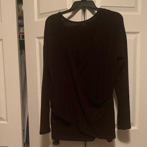 J Crew Reversible Black Sweater Sz M EUC